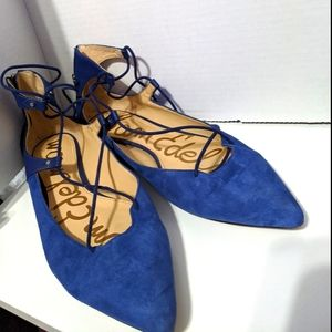 Womens Sam Edelman Rosie Lace Up Ballet Flat sz 8
